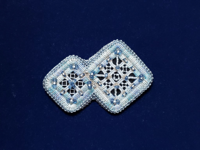 すくも藍コンテスト『銅賞』「氷〜KOORI〜」山内 美実 様