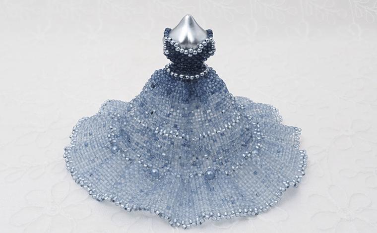 すくも藍『藍ドール』ビーズドレス